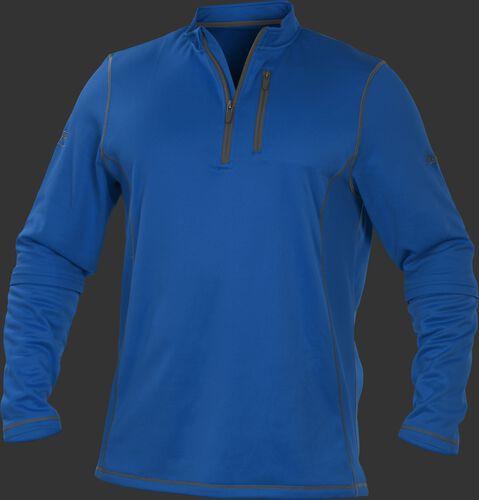 TECH2 Royal Rawlings quarter-zip fleece pullover with graphite chest pocket zipper