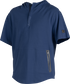 A navy Gold Collection short sleeve hoodie with a 1/4 zip and gray welded zipper pockets - SKU: GCJJ-N image number null