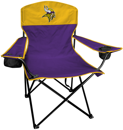 NFL Minnesota Vikings Lineman chair with team colors and logo on the back