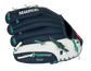 Back of a navy/white Seattle Mariners 10-Inch youth glove with the MLB logo on the pinky - SKU: 22000015111 image number null