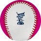 The 2021 MLB Home Run Derby logo stamped on the white side of a Home Run Derby money ball - SKU: RSGEA-ROMLBMB21-R image number null