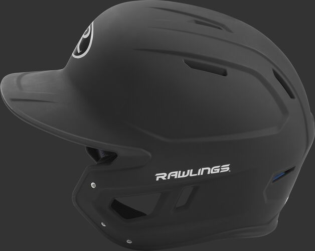 MACH Rawlings batting helmet with a one-tone matte black shell