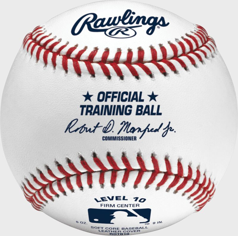 A Rawlings level 10 training baseball - SKU: ROTB10