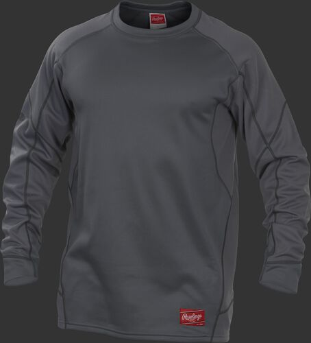 A grey YUDFP4 Dugout fleece pullover with a grey body and grey sleeves