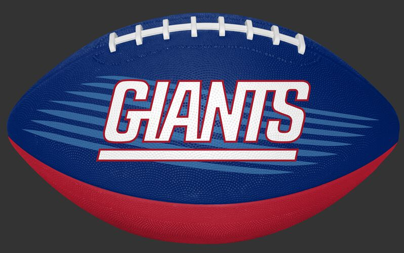 Blue and Red NFL New York Giants Downfield Youth Football With Team Name SKU #07731078121