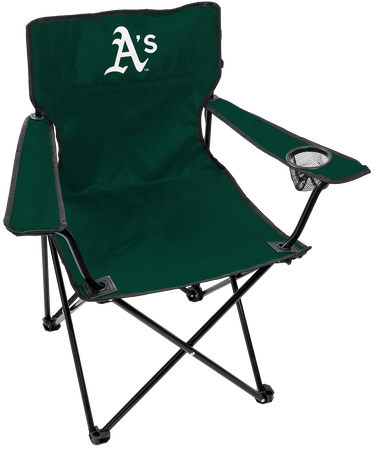 Front of Rawlings Green MLB Oakland Athletics Gameday Elite Chair With Team Logo SKU #06110003111