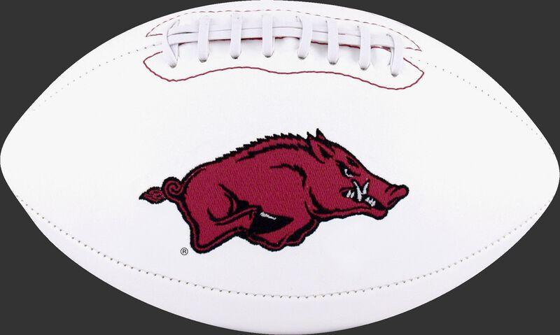 White NCAA Arkansas Razorbacks Football With Team Logo SKU #05733069122