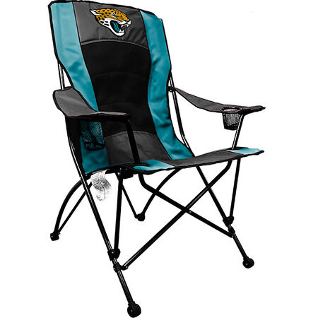 Front of Rawlings Teal and Black NFL Jacksonville Jaguars High Back Chair With Team Logo SKU #09211091518