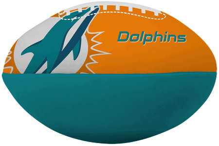 NFL Miami Dolphins Big Boy softee football with the team logo and printed in team colors