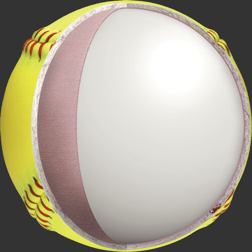 Inside cork of a PX2RYLAH 12-inch ASA softball