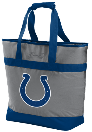 Rawlings Indianapolis Colts 30 Can Tote Cooler In Team Colors With Team Logo On Front SKU #07571070111