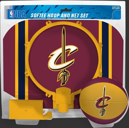 Rawlings Burgundy and Gold NBA Cleveland Cavaliers Softee Hoop Set With Team Logo SKU #03544199114