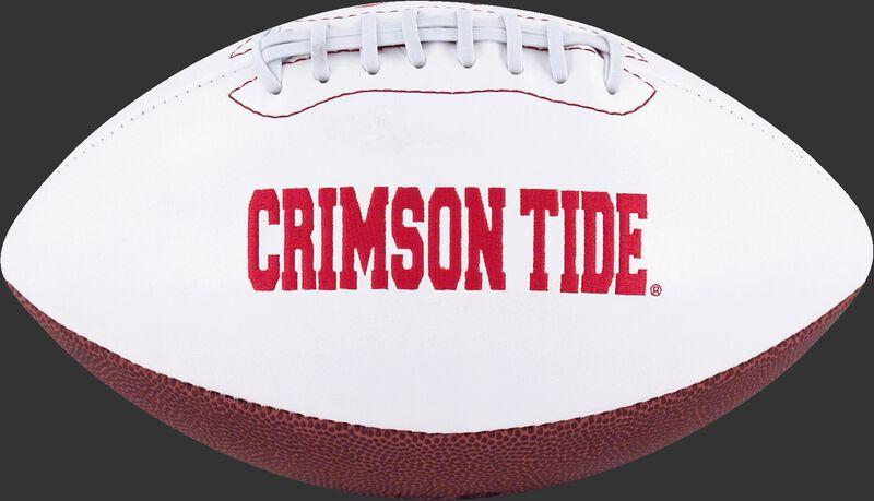 White NCAA Alabama Crimson Tide Signature Series Football With Team Name SKU #05733066121