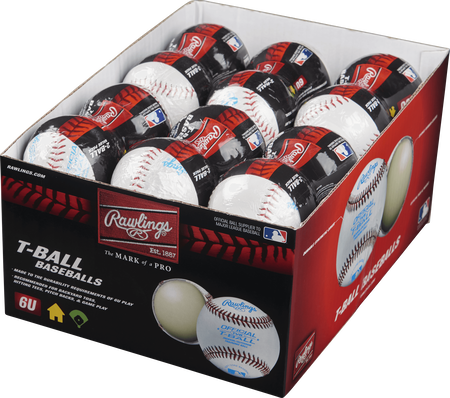 24 Pack T-Ball 6U Training Baseballs