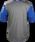 Back of a gray Rawlings Hurler short sleeve shirt with royal sleeves - SKU: HSSP-GR/R image number null