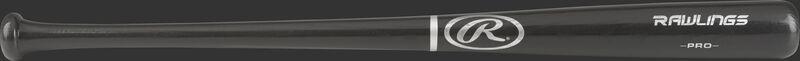 Y242G Rawlings Adirondack youth wood bat with a black barrel and black handle