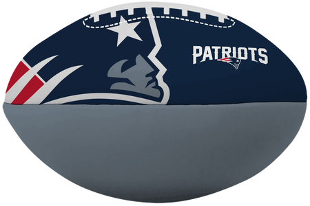 NFL New England Patriots Big Boy softee football printed in team colors with team logos
