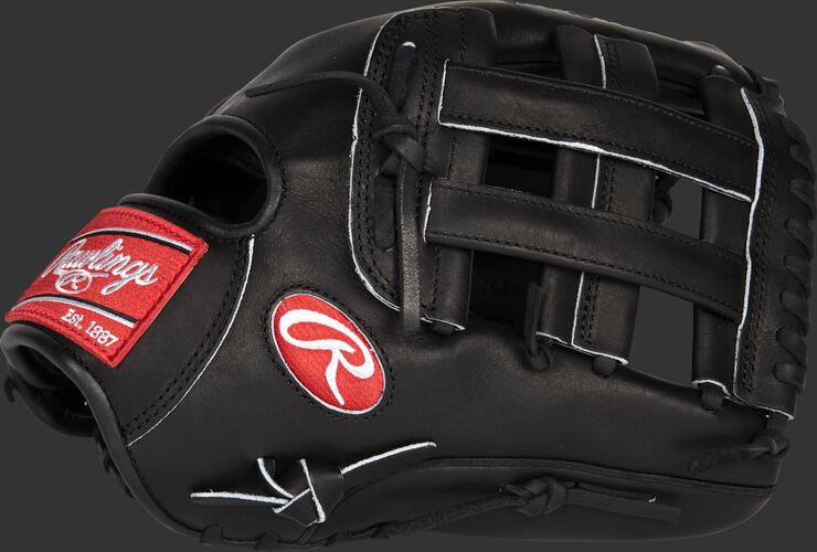 Thumb of a black Heart of the Hide 12-inch infield glove with a black H-web - SKU: PRO10006JBMPRO