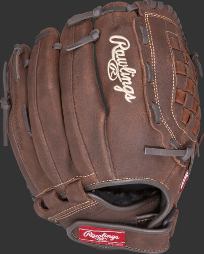 P120BFL 12-inch Player Preferred infield/pitcher's recreational glove with a brown back and Velcro wrist strap