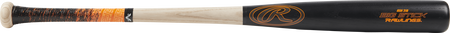 R318AV Big Stick ash wood bat with a black barrel and natural wood handle