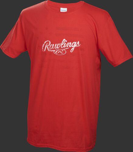 Adult Short Sleeve Flag Shirt Scarlet