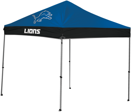 NFL Detroit Lions 9x9 shelter with team logos and shelters