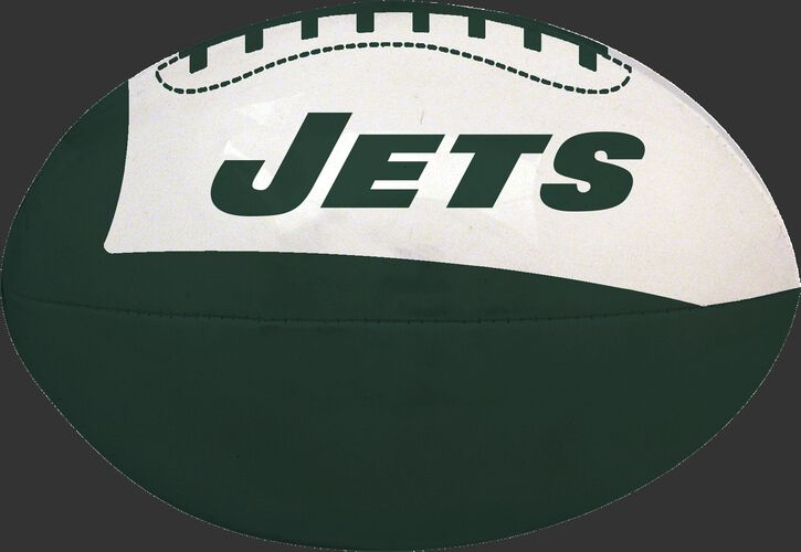 Green and White NFL New York Jets Football With Team Name SKU #07831079114