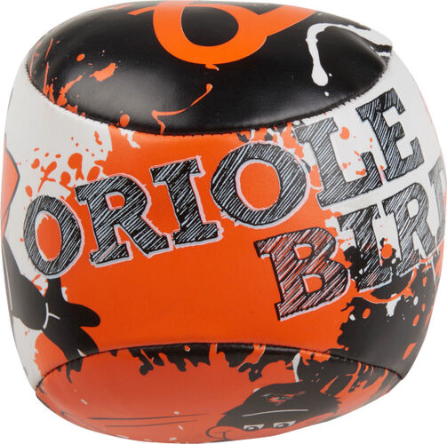 Top of Rawlings Baltimore Orioles Quick Toss 4'' Softee Baseball With Team Mascot Name On Front In Team Colors SKU #01320018112