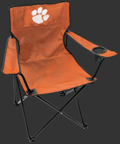Front of Rawlings Orange NCAA Clemson Tigers Gameday Elite Chair With Team Logo SKU #00563010111