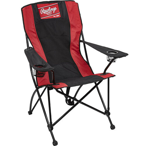 Front of Rawlings Red and Black High Back Chair With Rawlings Logo SKU #09404043511