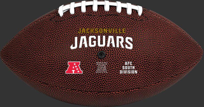 Brown NFL Jacksonville Jaguars Football With Team Name SKU #07081091811
