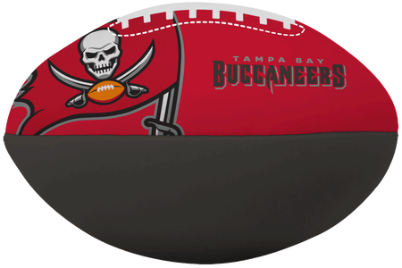 NFL Tampa Bay Buccaneers Big Boy softee football in team colors and featuring team logos