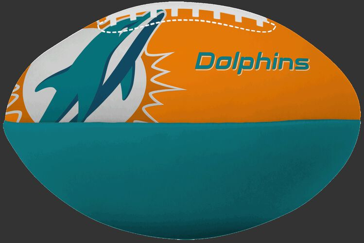 NFL Miami Dolphins Big Boy softee football with the team logo and printed in team colors SKU #03211074111
