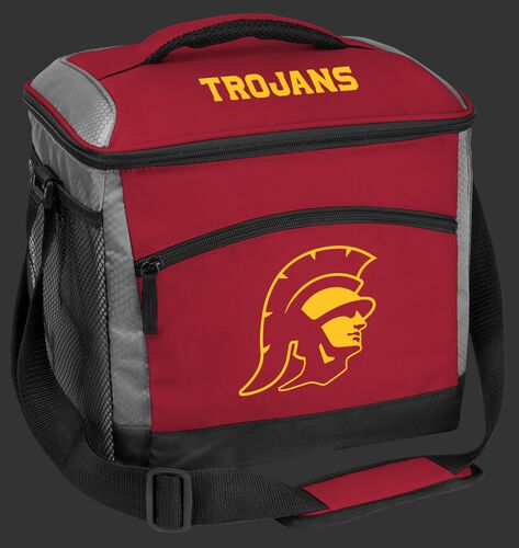 A USC Trojans 24 can soft sided cooler with a Trojans logo on the front - SKU: 10223100111