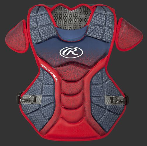 A navy/scarlet CPVEL Velo series intermediate chest protector