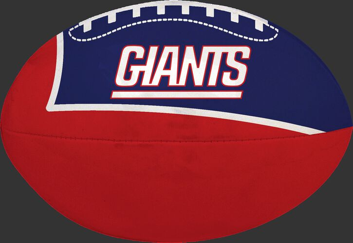 Red and Blue NFL New York Giants Football With Team Name SKU #07831078114