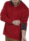 Expandable sleeve gusset of a scarlet PFH2 fleece hoodie image number null