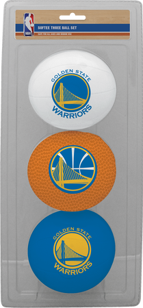 NBA Golden State Warriors Three-Point Softee Basketball Set