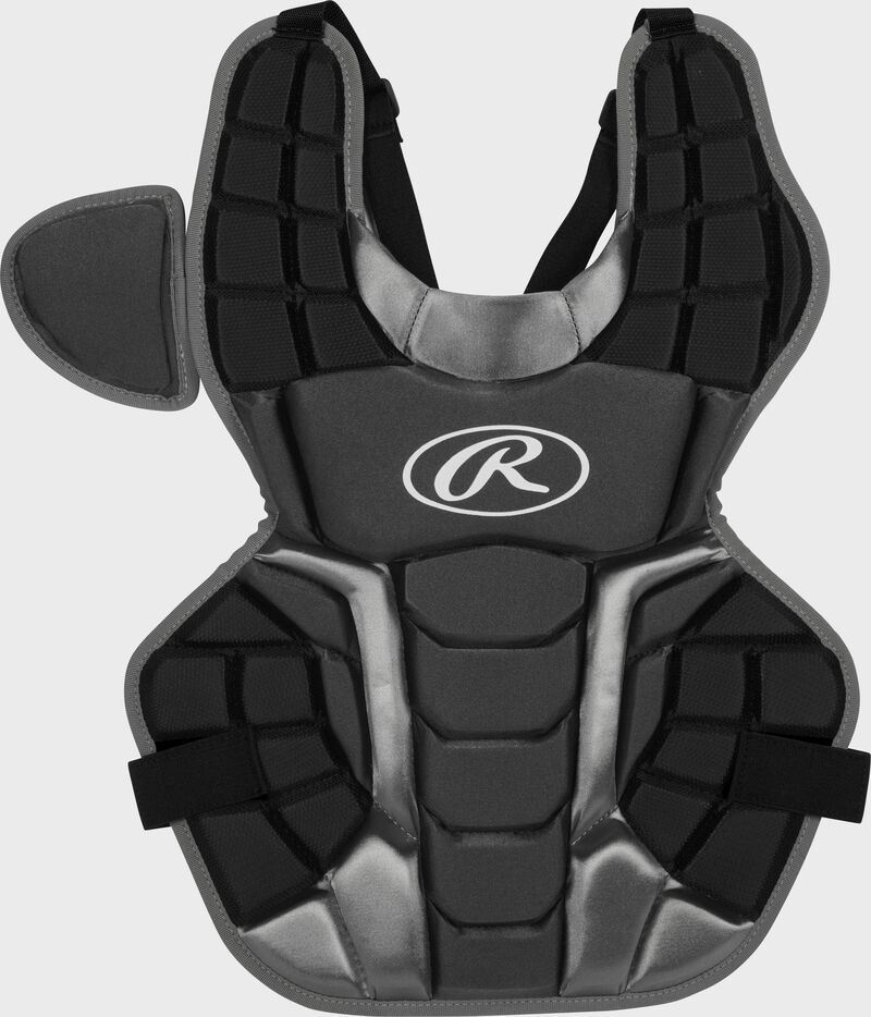 Black RCSNA Renegade adult chest protector with Arc Reactor Core