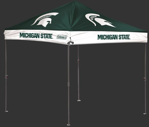 Rawlings Green and White NCAA Michigan State Spartans 10x10 Canopy Shelter With Team Logo and Name SKU #02023038112