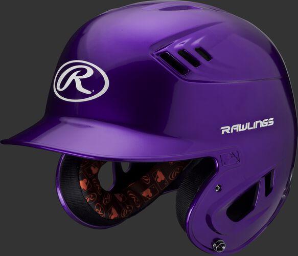 Velo Junior Batting Helmet Purple