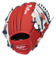 Back of a red/white Philadelphia Phillies 10-inch I-web glove with a red Rawlings patch - SKU: 22000020111 image number null