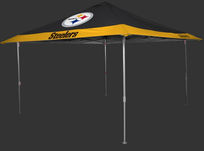 Rawlings Black and Gold NFL Pittsburgh Steelers 10x10 Eaved Canopy With Team Logo and Name SKU #07561082111