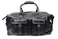 A black Rugged duffle bag with 2 compartments on the front and leather handles - SKU: RS10023-001 image number null