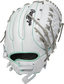 White back of a 2021 HOH 12-Inch softball glove with ocean mint binding/welting and pull strap back - SKU: PRO716SB-18WM image number null