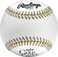 A RGGBB Rawlings Gold Glove baseball with black logos and gold stitching image number null