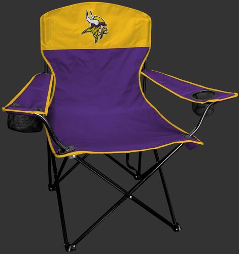 Front of Rawlings Purple and Yellow NFL Minnesota Vikings Lineman Chair With Team Logo SKU #31021075111