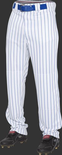 Front of Rawlings Royal Youth Semi-Relaxed Pinstripe Pant - SKU #YPIN150