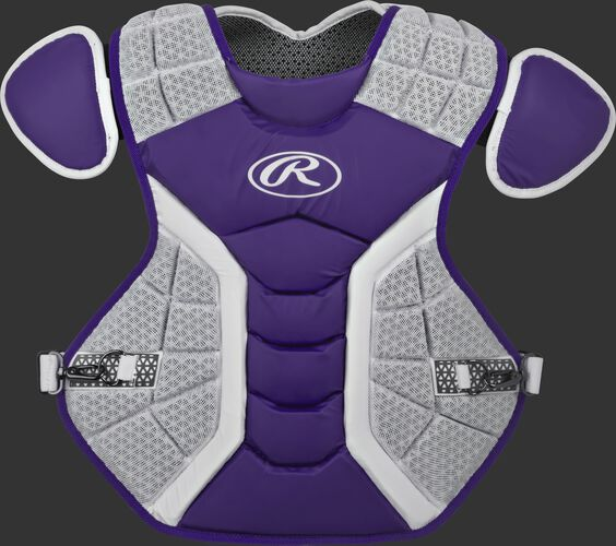 A purple/grey CPPRO Pro Preferred adult chest protector