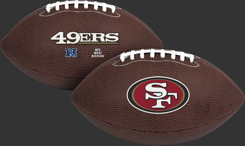 NFL San Francisco 49ers Air-It-Out youth football with team name and logo SKU #08041084121